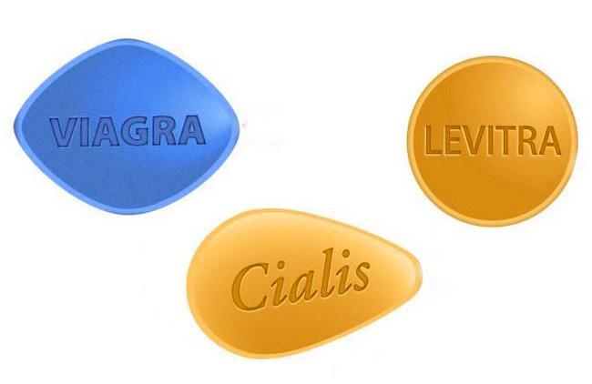 Препараты Виагра, Левитра и Сиалис применяемые в терапии эректильной дисфункции