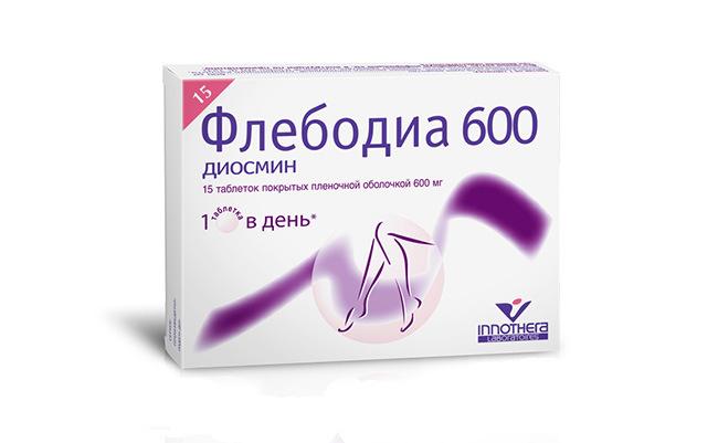 Препарат Флебодиа 600 применяемый в терапии венозного расширения вен