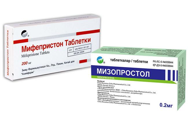 Препараты для медикаментозного аборта Мифепристон и Мизопростол