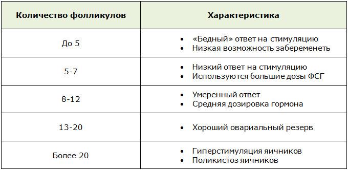 Количество фолликулов при УЗИ и оценка овариального резерва яичников