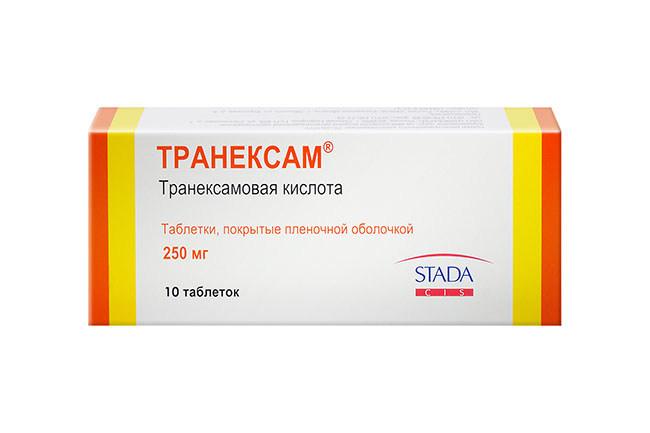 Препарат Транексам, как кровоостанавливающее средство при обильных месячных
