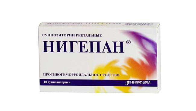 Противогеморроидальное средство Нигепан