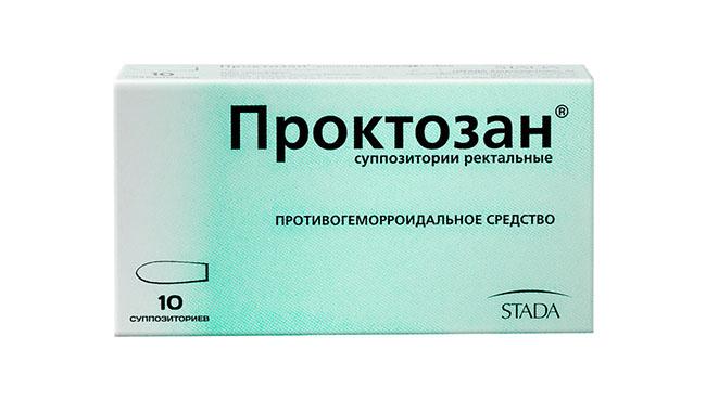 Препарат Проктозан для послеродового лечения геморроя
