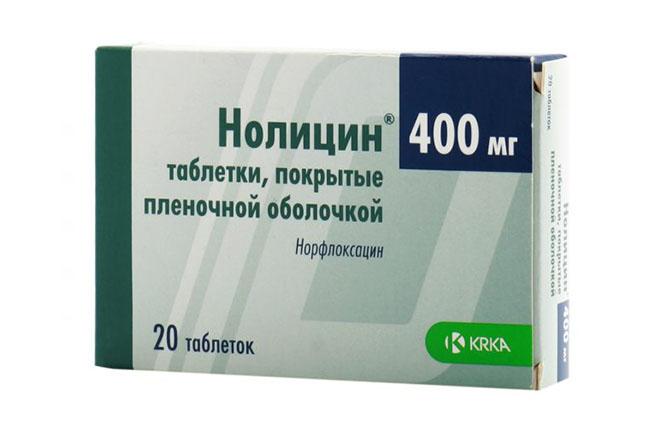 Препарат Нолицин назначаемый для лечения цистита